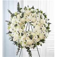 Standing-Wreath-White-for-funeral-flowers-flowerama