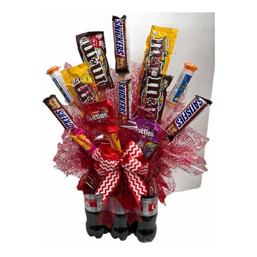 candy soda pop cocoa cola bouquet design