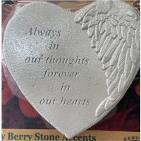 always in our thoughts forever in our hearts stepping stone heart
